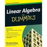 Linear Algebra For Dummies Mary Jane Sterling Paperback