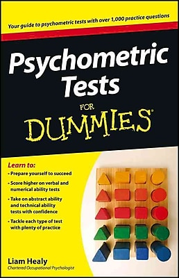 Psychometric Tests For Dummies Liam Healy Paperback