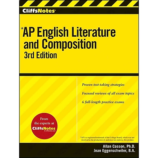 Cliffsnotes ap english literature and composition, 3rd edition.