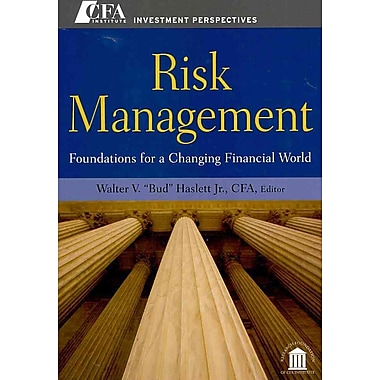 Risk Management Walter V. 'Bud' Haslett Jr. CFA Hardcover