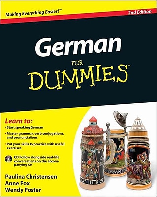 German For Dummies, (with CD) Paulina Christensen, Anne Fox, Wendy Foster Paperback