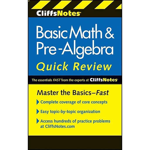 CliffsNotes Basic Math & Pre-Algebra Quick Review, 2nd Edition ...