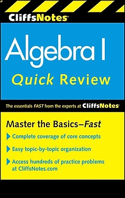 CliffsNotes Algebra I Quick Review, 2nd Edition (Cliffs Quick Review) Jerry Bobrow Paperback