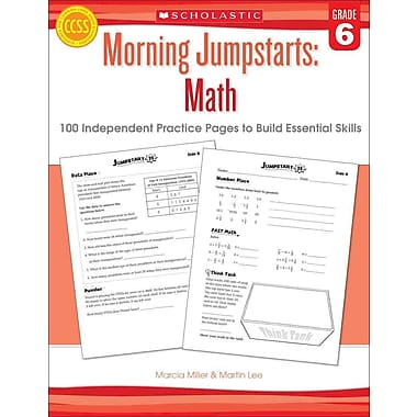 Morning Jumpstarts Math Martin Lee, Marcia Miller Paperback Grade 6