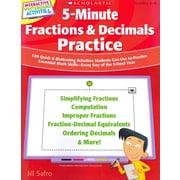 5-Minute Fractions & Decimals Practice Jill Safro Paperback