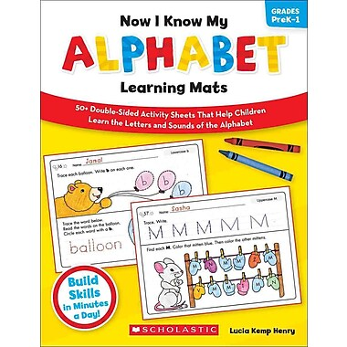Now I Know My Alphabet Learning Mats Lucia Kemp Henry Paperback