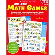 One-Page Math Games Lory Evans Paperback