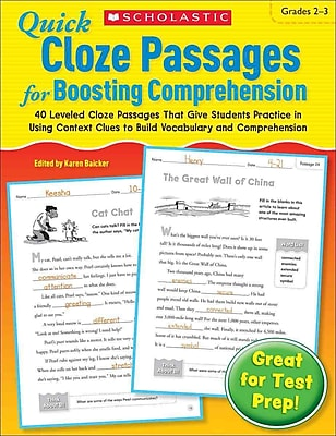 Quick Cloze Passages for Boosting Comprehension Scholastic 2-3