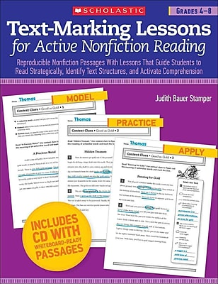 Text-Marking Lessons for Active Nonfiction Reading Judith Bauer Stamper Grades 4-8