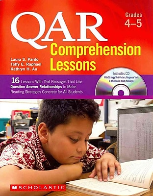 QAR Comprehension Lessons Taffy Raphael, Kathryn Au Paperback Grades 4-5
