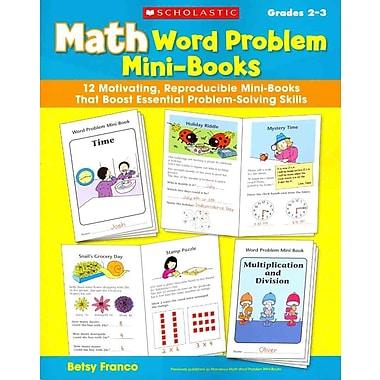 Math Word Problem Mini-Books Betsy Franco Paperback