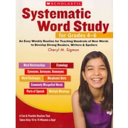 Systematic Word Study For Cheryl Sigmon Grades 4-6