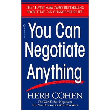 You Can Negotiate Anything Herb Cohen Paperback