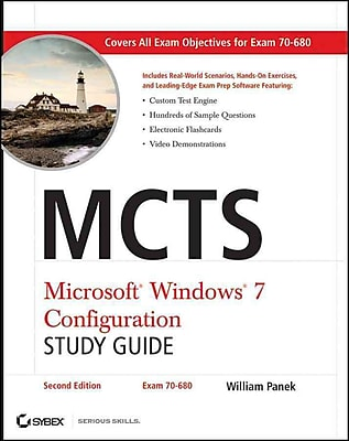 MCTS Microsoft Windows 7 Configuration Study Guide, Study Guide William Panek Paperback
