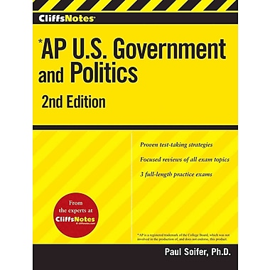 CliffsNotes AP U.S. Government and Politics 2nd Edition Paul Soifer Paperback