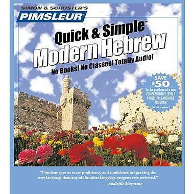 Pimsleur Quick & Simple Modern Hebrew Pimsleur CD