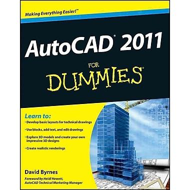 AutoCAD 2011 For Dummies David Byrnes Paperback