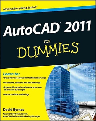AutoCAD 2011 For Dummies David Byrnes Paperback