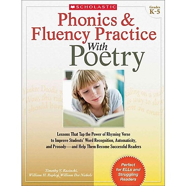 Phonics & Fluency Practice With Poetry Tim Rasinski, William Nichols, William Rupley Paperback