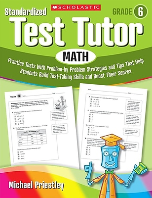 Standardized Test Tutor Math Michael Priestley Paperback Grade 6