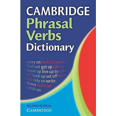 Cambridge Phrasal Verbs Dictionary Cambridge University Press Paperback