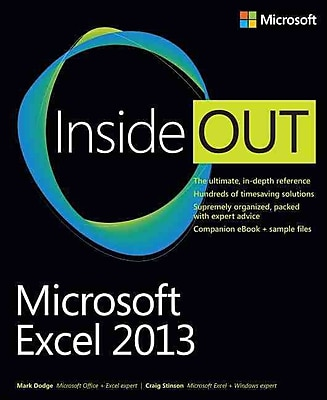 Microsoft Excel 2013 Inside Out Mark Dodge, Craig Stinson Paperback