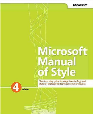 Microsoft Manual of Style Microsoft Corporation Paperback