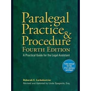 Paralegal Practice & Procedure Fourth Edition Paperback