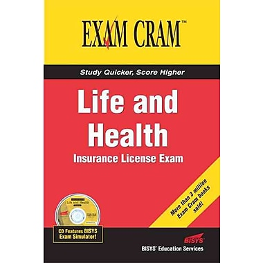 Life and Health Insurance License Exam Cram Bisys Educational Services Paperback