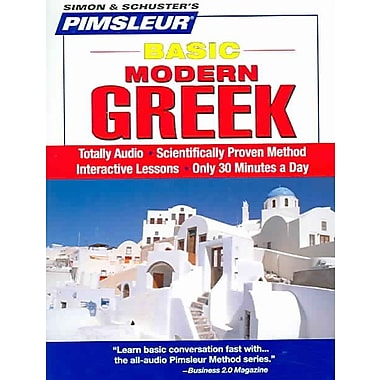 Greek (Modern), Basic: Learn to Speak and Understand Modern Greek with Pimsleur Language CD