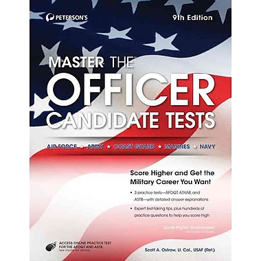 Master the Officer Candidate Tests Peterson's Paperback