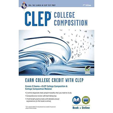 CLEP College Composition Book + Online (CLEP Test Preparation) Paperback