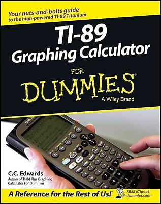 Ti-89 Graphing Calculator For Dummies C. C. Edwards Paperback