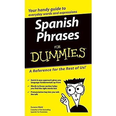 Spanish Phrases For Dummies Susana Wald Paperback