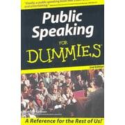 Public Speaking For Dummies Malcolm Kushner Paperback