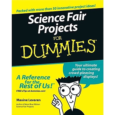 Science Fair Projects For Dummies Maxine Levaren Paperback