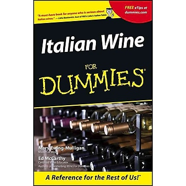 Italian Wine For Dummies Mary Ewing-Mulligan, McCarthy Paperback