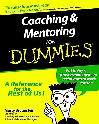 Coaching & Mentoring for Dummies Marty Brounstein Paperback