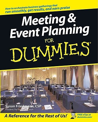 Meeting & Event Planning For Dummies Susan Friedmann Paperback