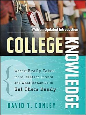 College Knowledge David T. Conley Paperback