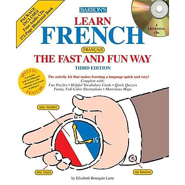 Learn French the Fast and Fun Way with Audio CDs E. Leete Paperback, (0764176890)
