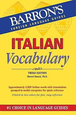 Italian Vocabulary (Barron's Vocabulary Series) Marcel Danesi Paperback
