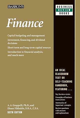 Finance (Barron's Business Review Series) Ehsan Nikbakht, A.A. Groppelli Paperback