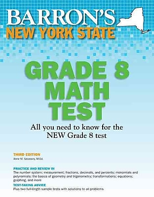 Barron's New York State Grade 8 Math Test Anne M. Szczesny Paperback