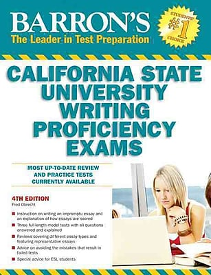 Barron's California State University Writing Proficiency Exams Fred Obrecht Paperback