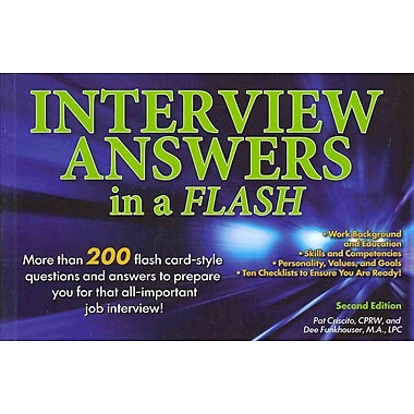 Interview Answers in a Flash Pat Criscito, Dee Funkhouser Paperback