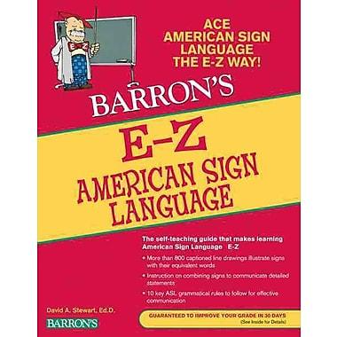 E-Z American Sign Language (Barron's E-Z Series) Paperback