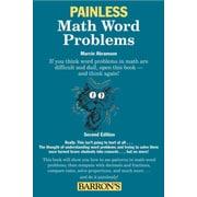 Painless Math Word Problems (Barron's Painless) Marcie Abramson Ed.M.  Paperback