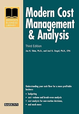 Modern Cost Management and Analysis (Barron's Business Library) Paperback