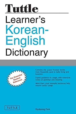 Tuttle Learner's Korean-English Dictionary Kyubyong Park Paperback